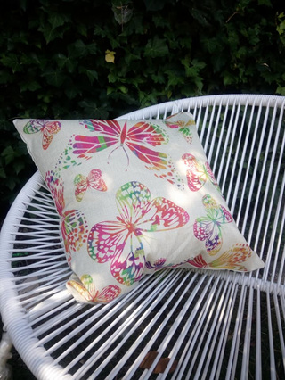 Rainbow Butterfly Cushion Cover