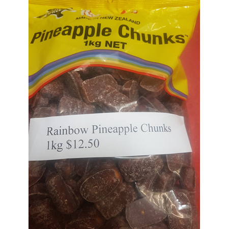 Rainbow Chocolate Pineapple Chunks