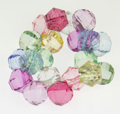 Rainbow Colours Acrylic Stretch Bangle
