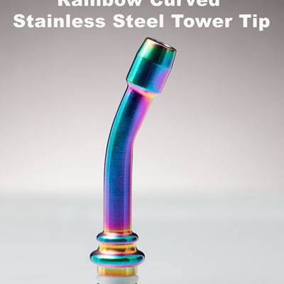 Rainbow Curved Stainless Steel Tower Tip