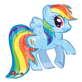 Rainbow Dash foil balloon