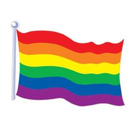 Rainbow Flag - Double sided Cutout