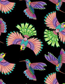 Rainbow Flight Birds Black 77641936