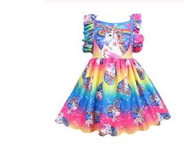 Rainbow Girls Unicorn Dress Size 2