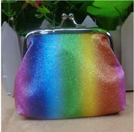 Rainbow Glitter Coin Purse