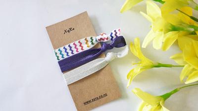 Rainbow Hair Ties (pack of 3 ties)