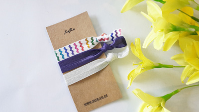 Rainbow Hair Ties (pack of 3 ties)