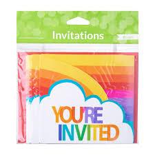 Rainbow invitations - you're invited