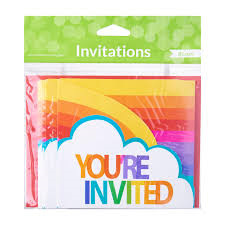 Rainbow invitations - you're invited