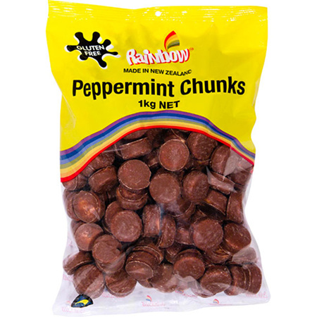 Rainbow Peppermint Chunks - 1kg bag