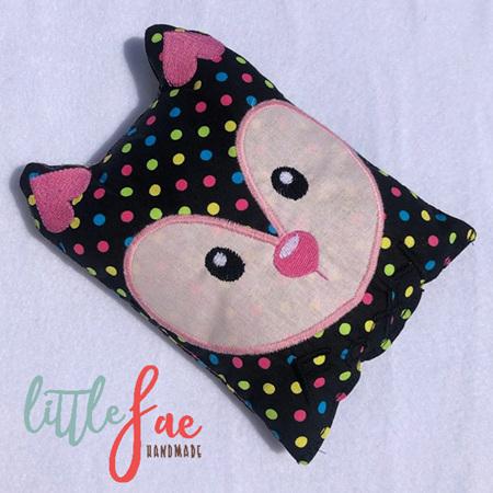 Rainbow Polka Dot Fox Heat Bag