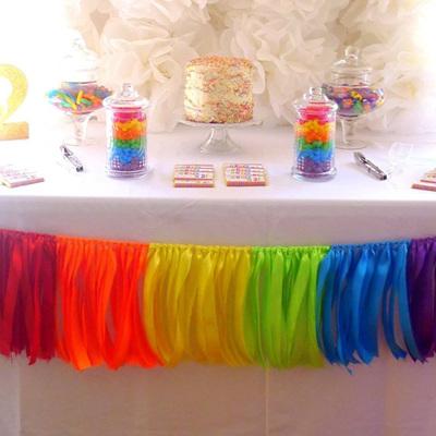 Rainbow Ribbon Garland