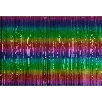Rainbow Slit Foil Door Curtain