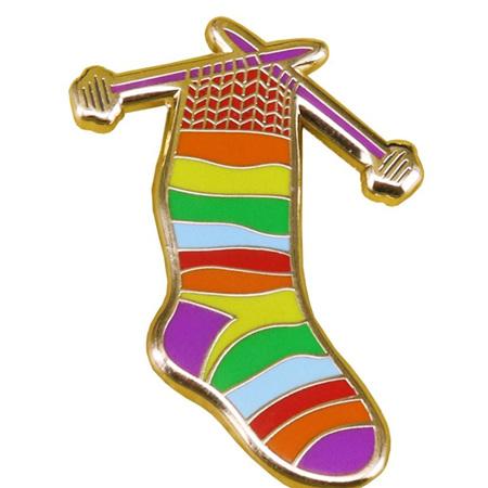 Rainbow Sock Enamel Pin