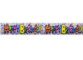 Rainbow Stripe - Happy Birthday Banner