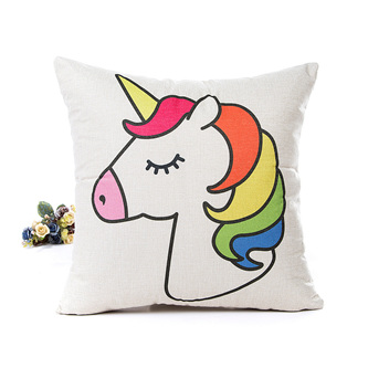 Rainbow Unicorn Cushion Cover
