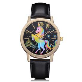 Rainbow Unicorn Watch - Black Strap