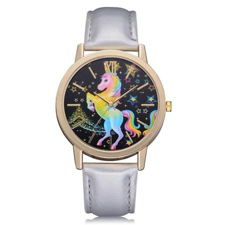 Rainbow Unicorn Watch - Silver Strap