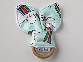 Rainbow Unicorns Bunny Teether