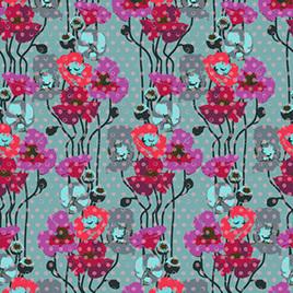 Raindrops Poppies PWAH050 Plum