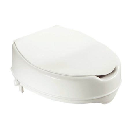 RAISED TOILET SEAT WITH LID 100MM (4')
