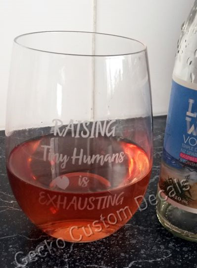 Raising Tiny Humans - Etched Glass