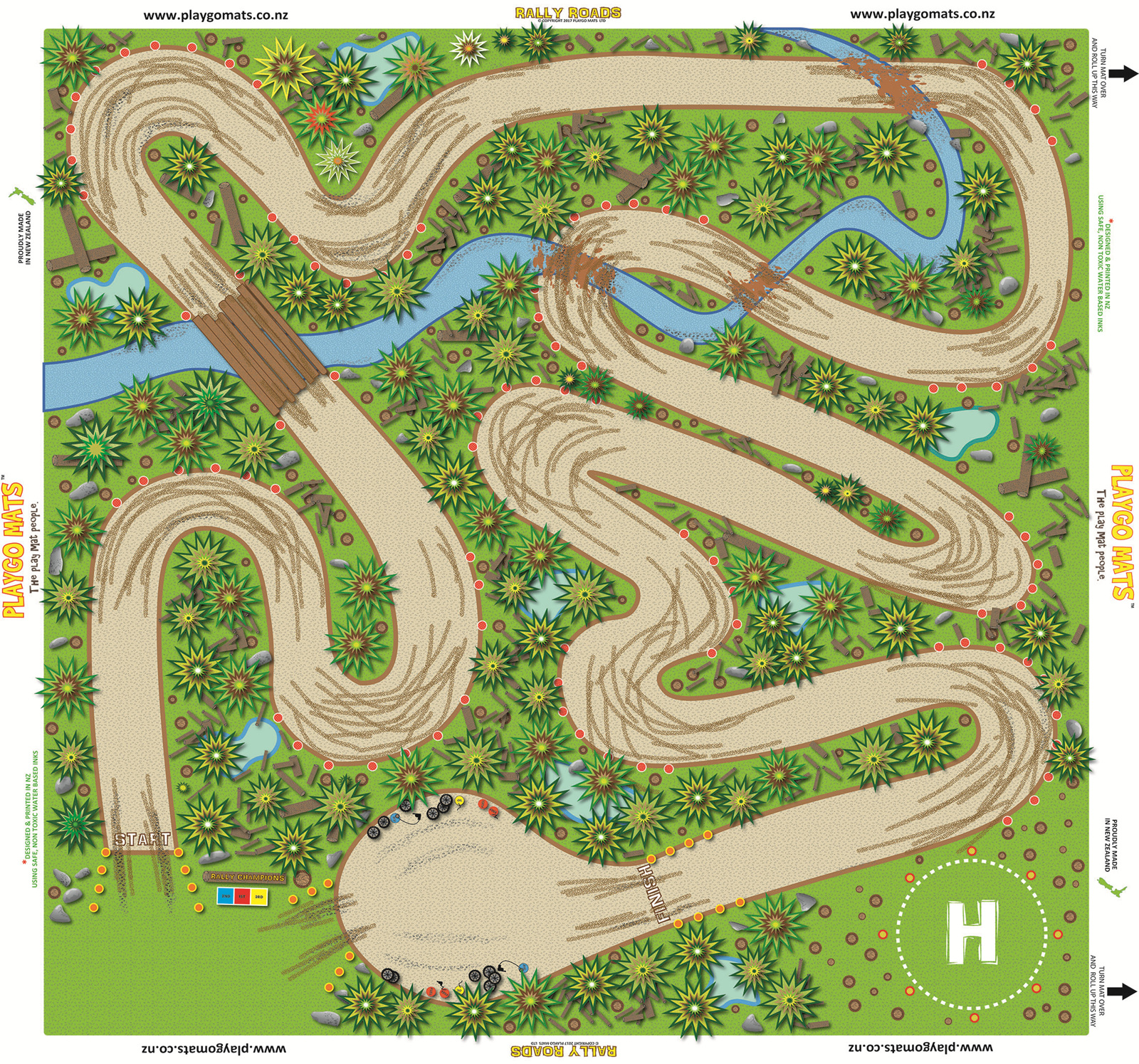 Rally Roads Playgo Mats
