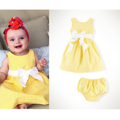 Ralph Lauren little yellow dress and pants