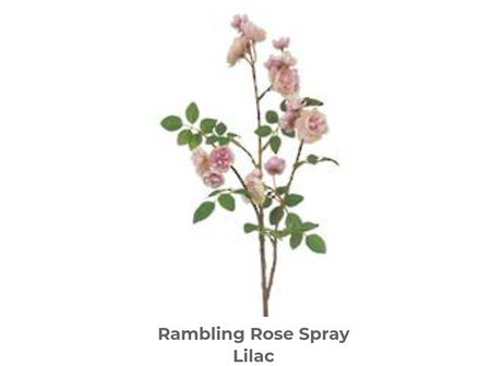 Rambling Rose Spray Lilac 76cm