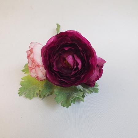 Ranunculus 3 stem posy Fuschia 4065