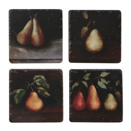 Raphael Pear Coasters Set  4