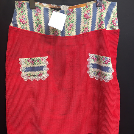 Raspberry Cord Skirt - Adult Size 12