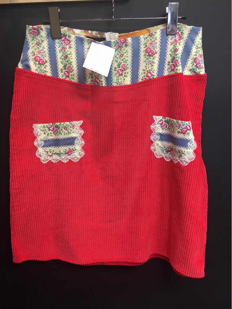 Raspberry Cord Skirt - Adult Size 12