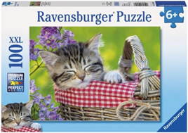 Ravensburger 100 Piece Jigsaw Puzzle: Sleeping Kitten
