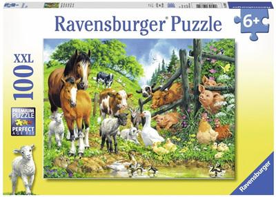 Ravensburger 100XXL Piece  Jigsaw Puzzle: Animal Get Together