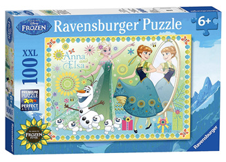 Ravensburger 100XXL Piece  Jigsaw Puzzle: Anna & Elsa From Disney Frozen Fever