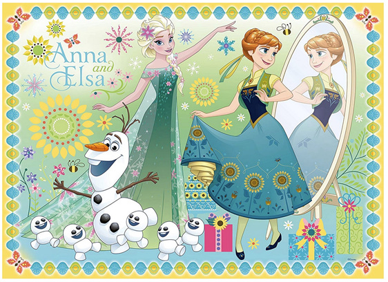Ravensburger 100 Piece Puzzle Frozen Anna & Elsa buy at www.puzzlesnz.co.nz