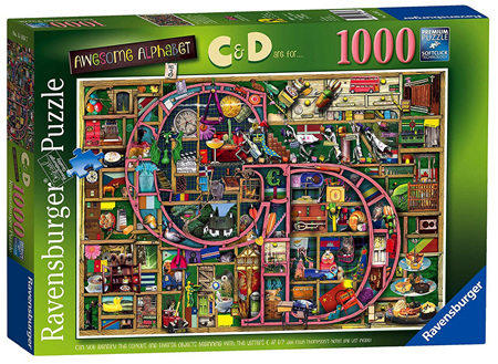 Ravensburger 1000 Piece Jigsaw Puzzle: Awesome Alphabet C & D