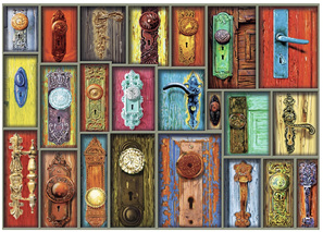 Ravensburger 1000 Piece  Jigsaw Puzzle: Antique Doorknobs