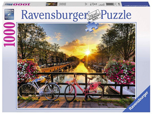 Ravensburger 1000 Piece  Jigsaw Puzzle: Bicycles In Amsterdam