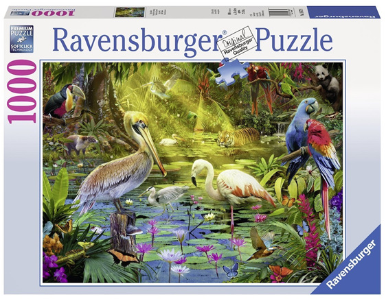 Ravensburger 1000 Piece  Puzzle  Bird Paradise  buy at www.puzzlesnz.co.nz
