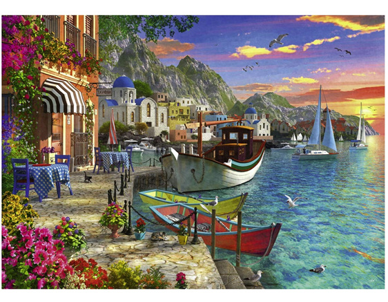 Ravensburger 1000 piece puzzle Grandiose Greece  buy at www.puzzlesnz.co.nz