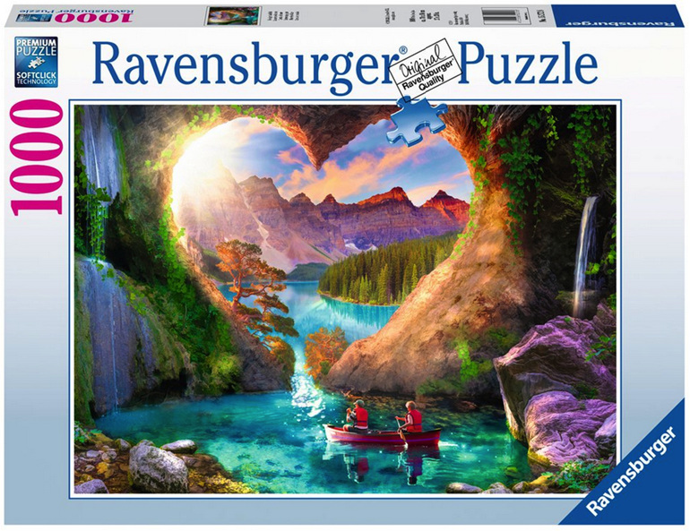 Ravensburger 1000 piece puzzle Heart View Cave  buy at www.puzzlesnz.co.nz