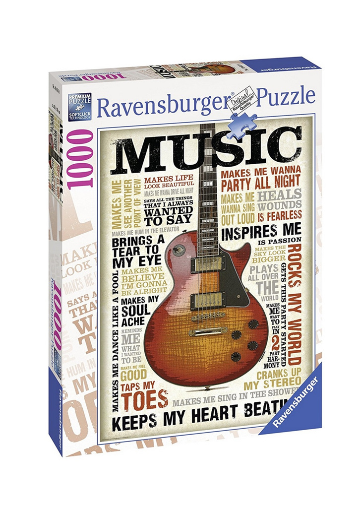 ravensburger 1000 piece jigsaw puzzle passion for music puzzlesnz. Black Bedroom Furniture Sets. Home Design Ideas