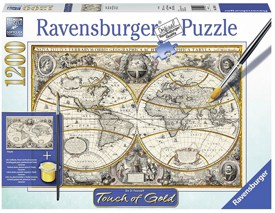 Ravensburger 1200 Piece Jigsaw Puzzle Antique World Map Puzzlesnz