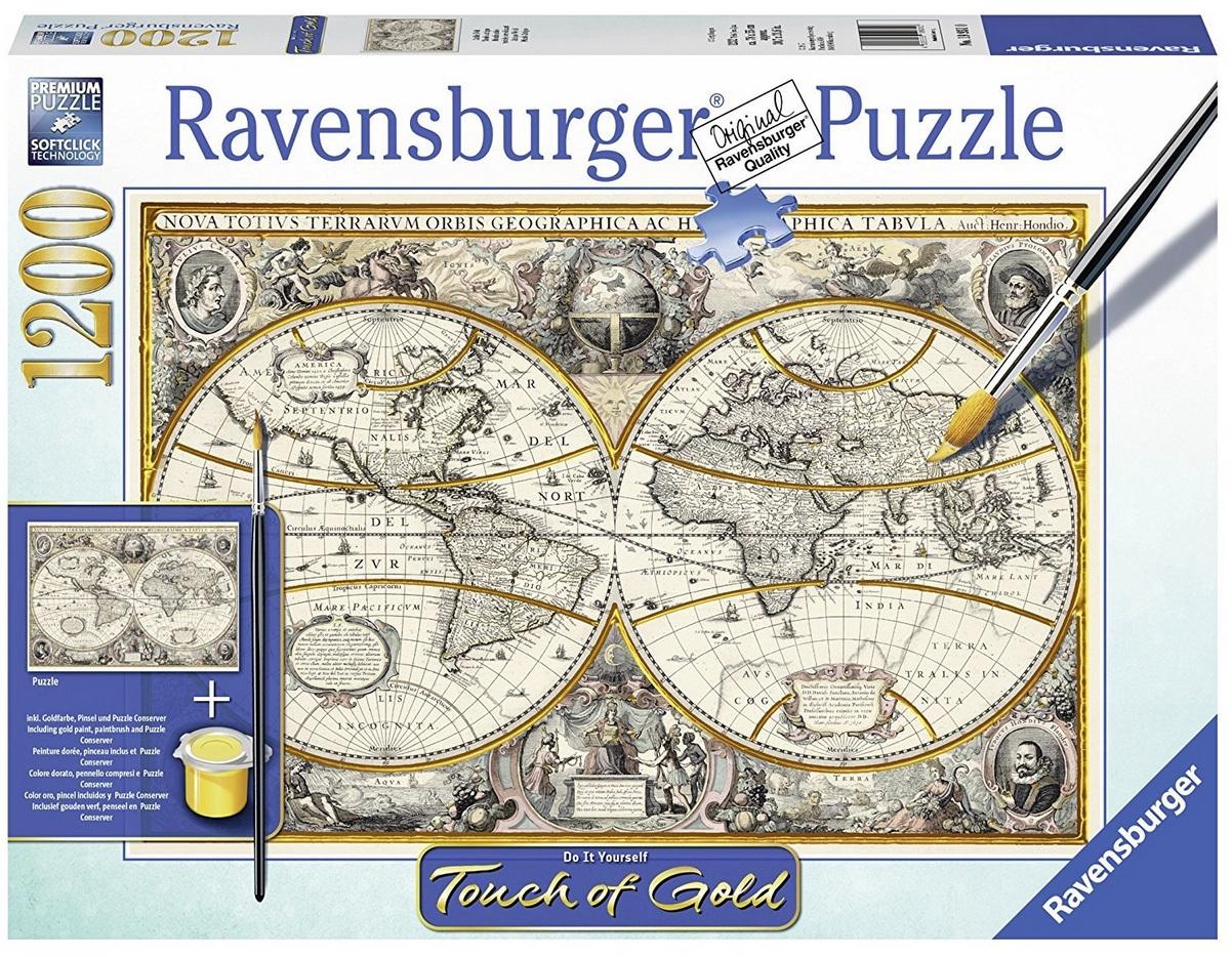 Antique World Map Puzzle.Ravensburger 1200 Piece Jigsaw Puzzle Antique World Map