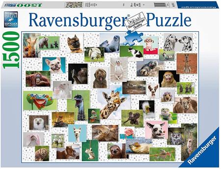 Ravensburger 1500 Piece Jigsaw Puzzle: Funny Animals