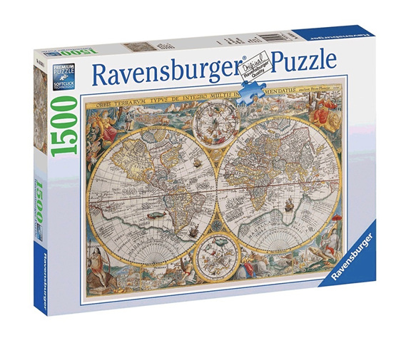 Ravensburger 1500 Piece Jigsaw Puzzle: Historical Map: The World ...