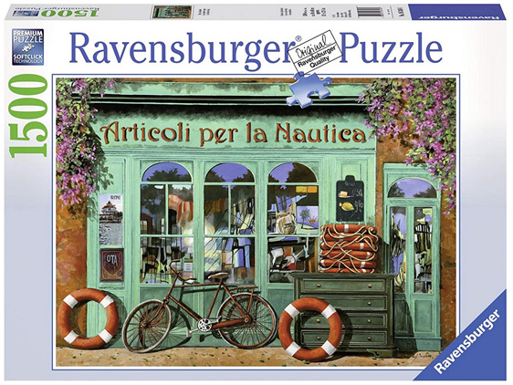 Ravensburger 1500 Piece  Puzzle The Red Bicycle buy at www.puzzlesnz.co.nz