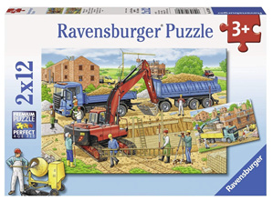 Ravensburger 2 x 12 Piece Jigsaw Puzzle: House Construction Site